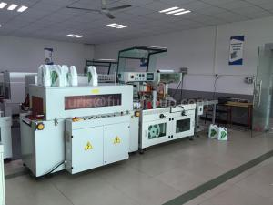 China Carbon Steel Shrink Wrap Equipment Shrink Packaging Machine With PLC Touch Screen on sale