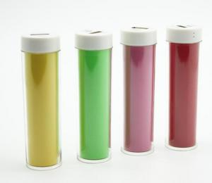 China Lipstick Mini Power Bank 2600mAh , Pocket Mobile Power Charger For Travel on sale