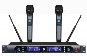 China Professional UHF Infrared Dual Channel  Wireless Microphone on sale