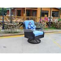 China CA1602R PE rattan swivel glider deep seating with cushion and pillow metal arm on sale