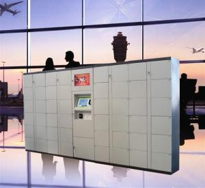 China Airport Train Station Baggage Locker With Credit Card Payment And Advertising Screen on sale