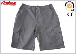 China 100% Cotton Kaki Casual Shorts , elastic waist Cargo Work Pants for Men on sale