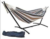 China Durable comfortable cotton rope hammock with stand, 1-2 person folding garden/camping hammock on sale