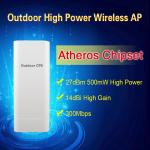 Ganho alto sem fio exterior IP65 do poder superior 14dBi do chipset 2.4G AP/CPE/Bridge 500mW de Atheros