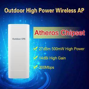 China Atheros chipset Outdoor 2.4G Wireless AP/CPE/Bridge 500mW High Power 14dBi High Gain IP65 on sale