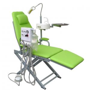 China Portable Folding Dental Chair With Turbine Unit Led Surgical Light Lamp on sale