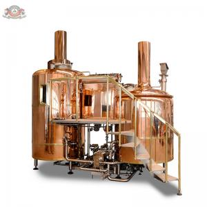 China 7BBL beer making machine with copper brewhouse tanks for beer production line of microbrewery on sale