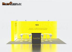 China Aluminum Extrusion LED Trade Show Booths 10x10 Easy Set Up CE Approved on sale