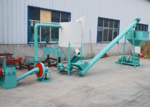 China Flat Die Poultry Feed Production Line , 500kg/H Capacity Small Feed Pellet Plant on sale