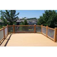 China Environmental Light Yellow Composite Garden Fence Panels For Garden Railing on sale