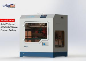China F430 1.75mm High Accuracy 3d Printer Large Build Volume With Glass Ceramic Panel on sale