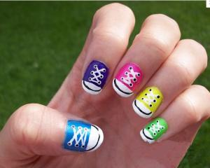 Beautiful Nail Art Fake Nails Colorful For Little Girls Decorated
