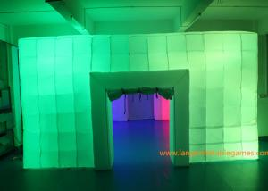 China 8.5*6*3M Inflatable Air Tent , Inflatable Colorful Tent With LED Lights for outdoor event on sale