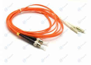 China Duplex LC To ST Fiber Jumper , Multimode Fiber Patch Cable PC Polishing Type on sale