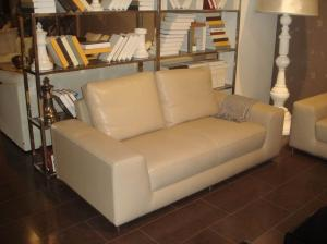Quality Beige Leather Modern Fabric Sofas Solid With High Resilience , 2 / 3 seater sofa for sale