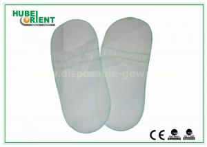 China Disposable White Elasticized Men / Women'S Toe Shoes For Beauty Centers on sale