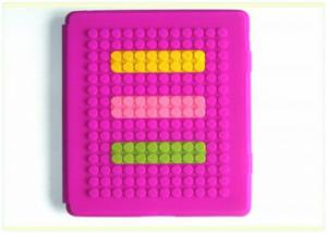 China Fashionable Lego blocks iPad, ipad2 Silicone Protective Cases Smart Cover for Standing on sale
