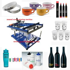 good price manual cylindrical pens and mug screen printing