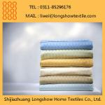 White Jacquard Bed Sheet Fabric Used in Hotels and Hospitals