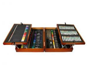 China Wood Painting Box Set, 36 Acrylic Paint Color Tubes, 34 Color Pencils, 42 Felt Pens, 52 Ch on sale