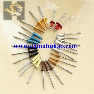 China baking finish color head blind rivet on sale