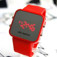 China LED watches 12colors Unisex Digital mirror display Silicone strap LJX09 on sale