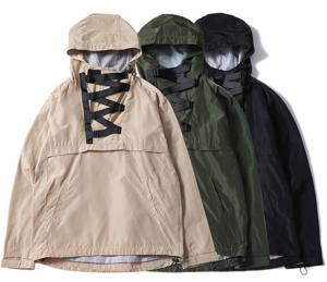 China Plus Size Hooded Anorak Jacket Pullover Closure Type US European Asian Size on sale