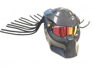China Cool monster motorcycle helmet, long hair carbon fiber motorcyle helmet on sale