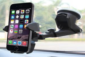 China Iphone Samsung Adjustable Car Phone Holder For Car Dashboard / Windscreen on sale
