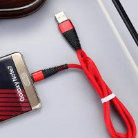Portable Data Charge Black Red White Blue Micro USB Cable Customized Length