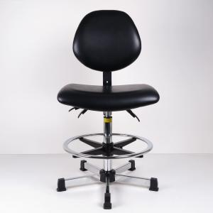 China Anti Static And Synthetic Leather Ergonomic Stool For High Work Bench Lab And Cleanroom on sale