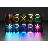 China Adjustable 3528 SMD Full Color LED Display Module Indoor Dot Matrix 32 * 16 on sale