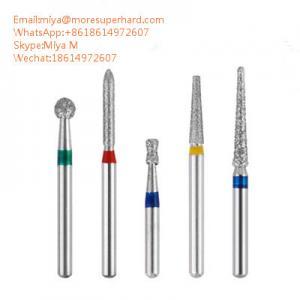 China Dental Diamond Burs for dental surgeries polishing miya@moresuperhard.com on sale