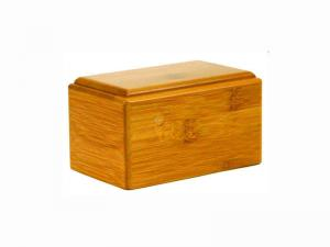 China Good Quality 100% Natural Bamboo Traditional Pet / Animal Casket / Cremation Ash Urn Box, Blank with Laser Engraved Word on sale