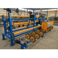 Semi Automatic Chain Link Fence Machine Single Wire Sturdy Structure High Output