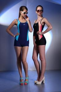 Large Size Endurance Black Sport Female Swimming Costume For Large