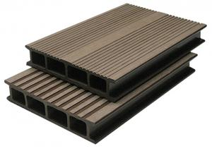 China Anti-Corrosion WPC Composite Decking For Cafe Grooves WPC Decking on sale