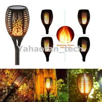 96 LED Flickering landscape Garden Lamp solar torch light with dancing flame
