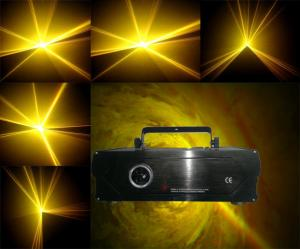 China 1W Yellow Animation Effect Stage Light, Laser Show System For Pub, Bar, Disco, Party on sale