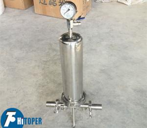 China Mineral Water Filtration Cartridge Filter Stainless Steel Shell Type CE Certified on sale