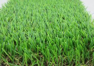 China Green Anti-UV Fake Grass Carpet W Shape Yarn For Lawn Decoration on sale