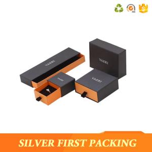 China Silverfirst New Custom Design Jewelry Boxes Made Of Cardboard Jewellery Display Box on sale