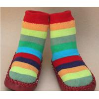 China High quality fashionable custom full terry anti slip baby socks bootie on sale