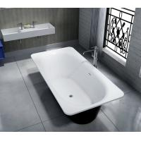 China Smooth Artificial Stone Bathtub High Hardness Stand Alone Soaking Tub on sale