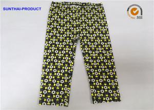 China Color Customized Cute Baby Girl Leggings Heart / Circle Printed Without Side Seam on sale