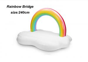 China Giant Adult Inflatable Water Floats White Rainbow Bridge Cool Pool Floats on sale