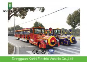China DC Motor 42 Seater Electric Trackless Train For Amusement Park / Shopping Malls on sale