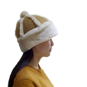 China Classic Double Face Sheepskin Beanie Hat Winner Women Leather Hats on sale