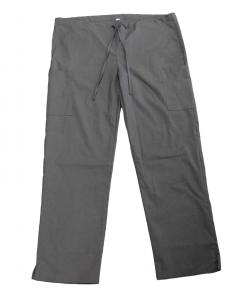 China 155 GSM Unisex Nurse Gray Pants 100% Cotton Medical Uniform With Rope Antimicrobial Wrinkle-free on sale