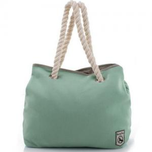 China Green Reusable Custom Cotton Tote Bags , Womens Tote HandbagsFor Daily on sale